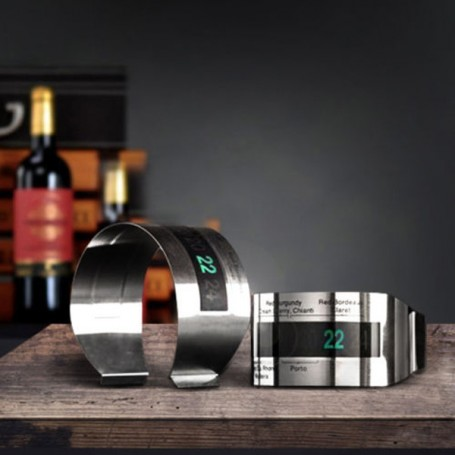 Bracelet Thermomètre à Vin LCD