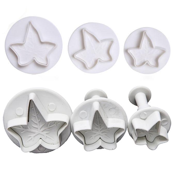 X3 Emporte-pièces Feuille de Lierre