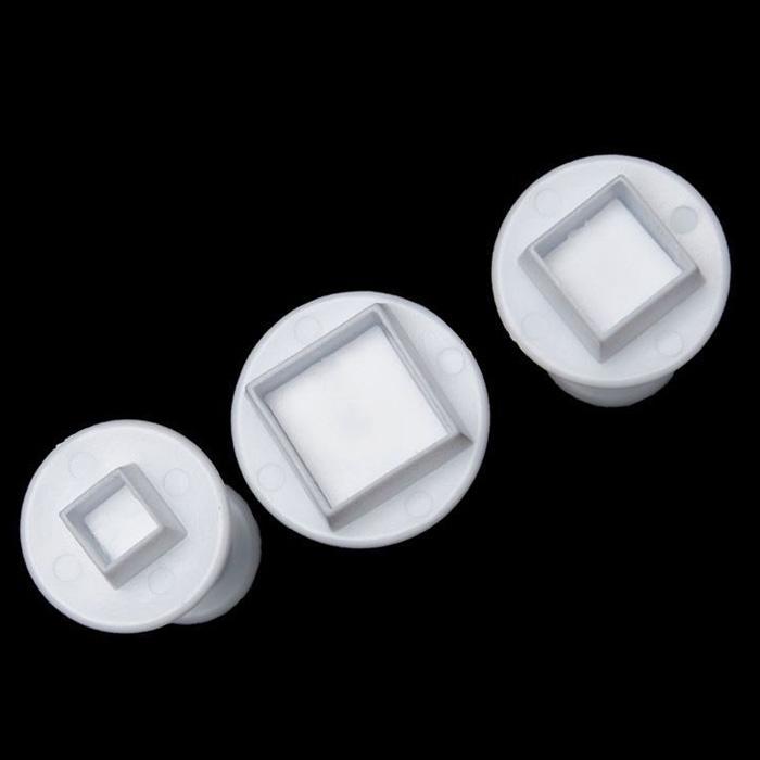 X3 Emporte-pièces forme Carré