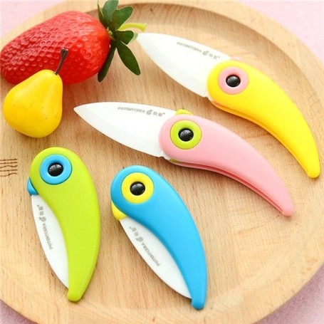 Couteau Céramique pliant en forme d'Oiseau