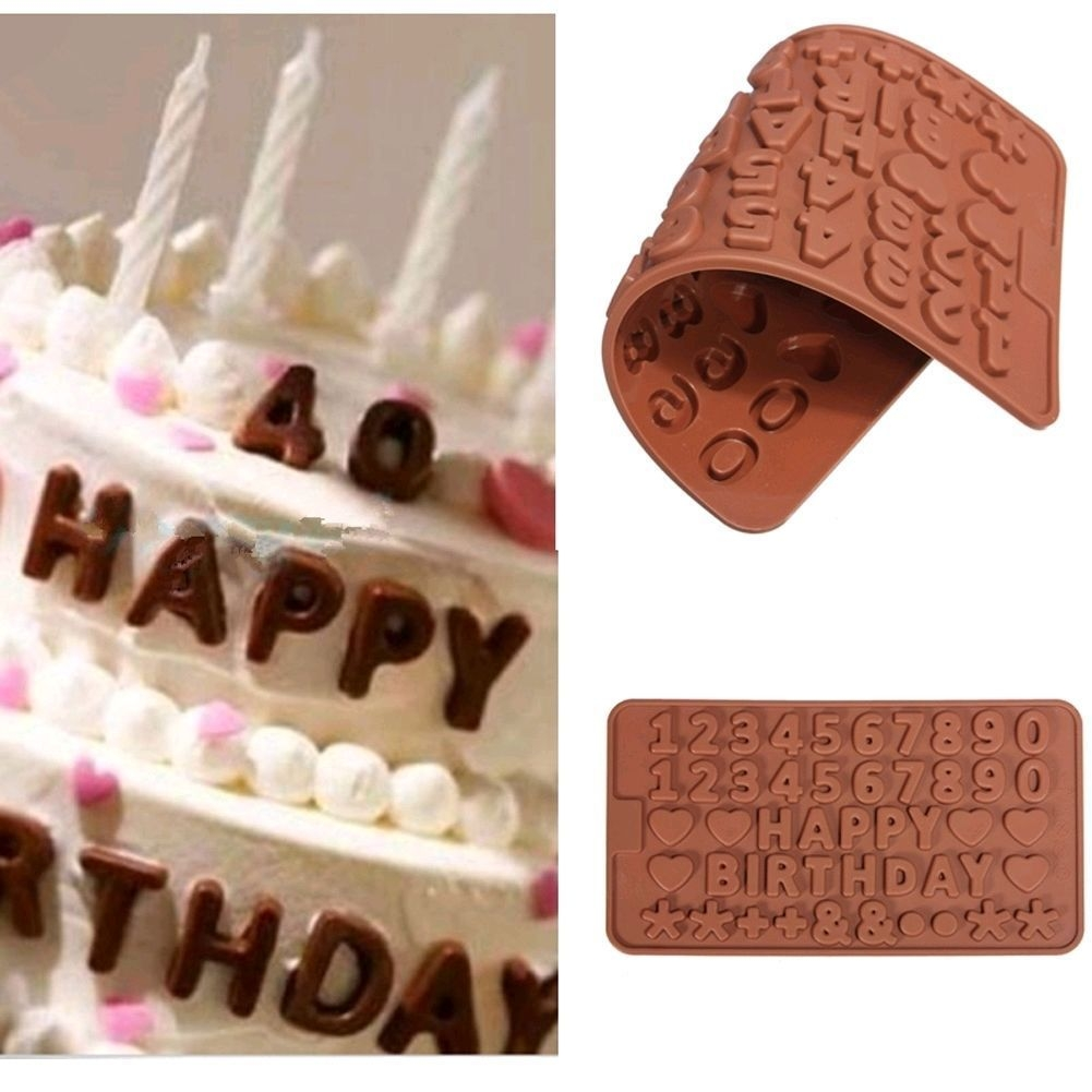 Moule Happy Birthday et Chiffre Silicone