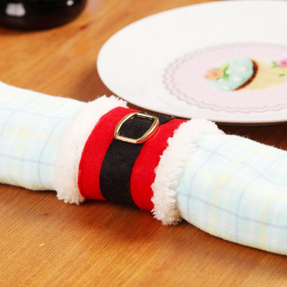 X4 Ronds de Serviette Noël