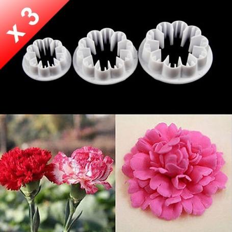 X3 Emporte-pièces Fleur