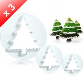 X3 Emporte-pièces Sapin de Noël