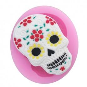 Moule Pâte à Sucre Halloween Tête de mort