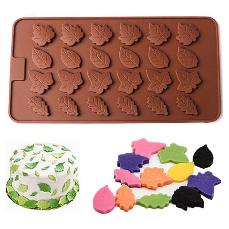 Moule 24 Feuilles Silicone