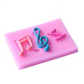Moule Note de Musique pâte à sucre
