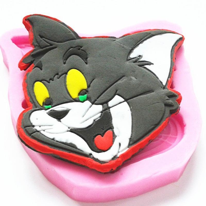 Moule Chat Cartoon pâte à sucre