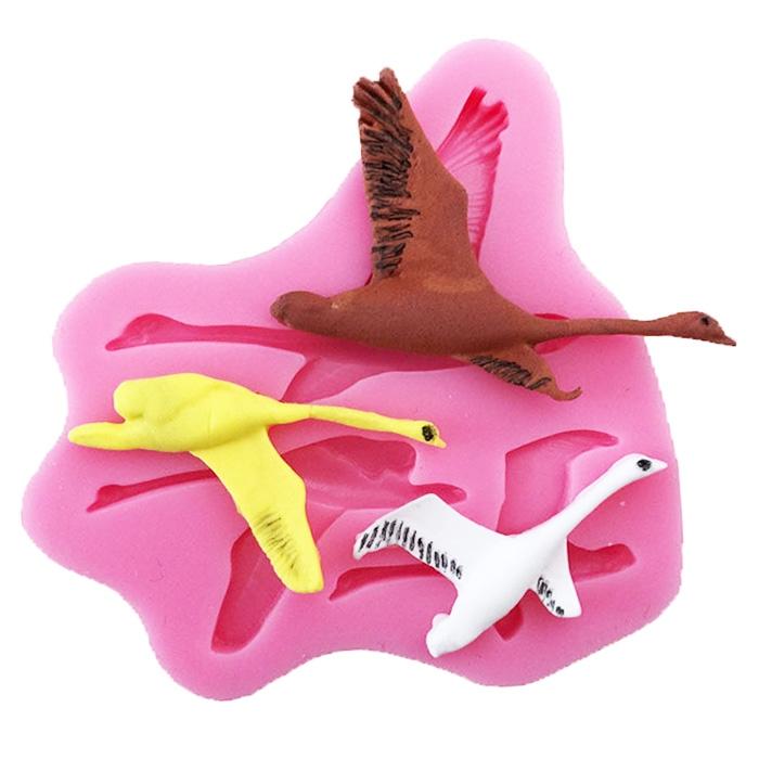 Moule Oiseaux Oie Cygne pâte à sucre