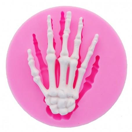 Moule Main Squelette Halloween pâte à sucre