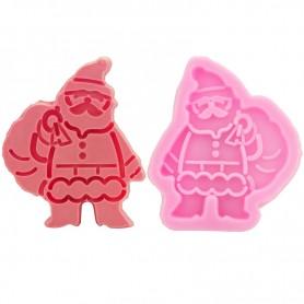Moule Père Noël avec Hotte pâte à sucre