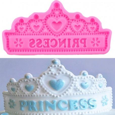 Moule Couronne de Princesse pâte à sucre