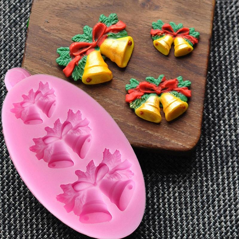 Moule Cloche de Noël  pâte à sucre