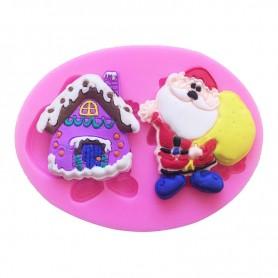 Moule Maison du Père Noël pâte à sucre