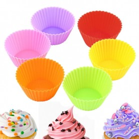 X6 Moule à Cupcakes & Muffins Silicone
