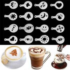 X16 Pochoirs de Décoration Café Cappuccino