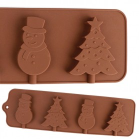 Moule Sucette Noël Sapin Silicone