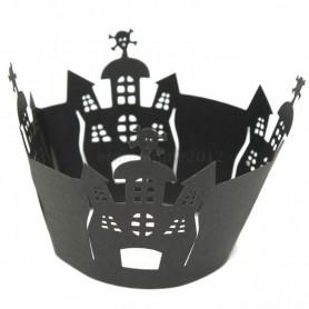 X12 Caissettes wrap Cupcake Halloween Château