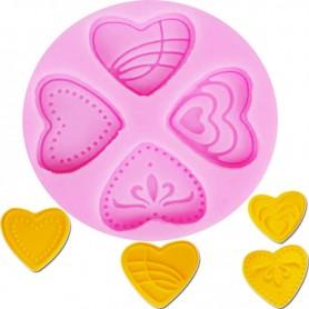 Moule 4 mini Coeur pâte à sucre