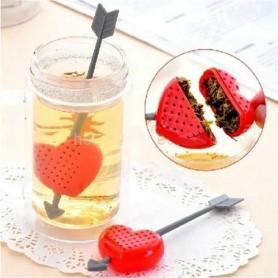 Infuseur à thé flèche cupidon coeur