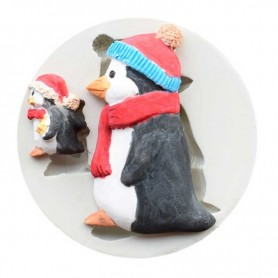 Moule Pingouin pâte à sucre