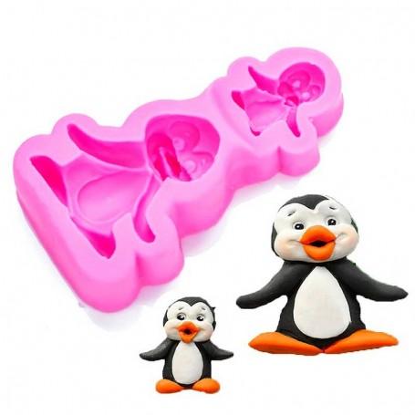 Moule Pingouin 3D pâte à sucre