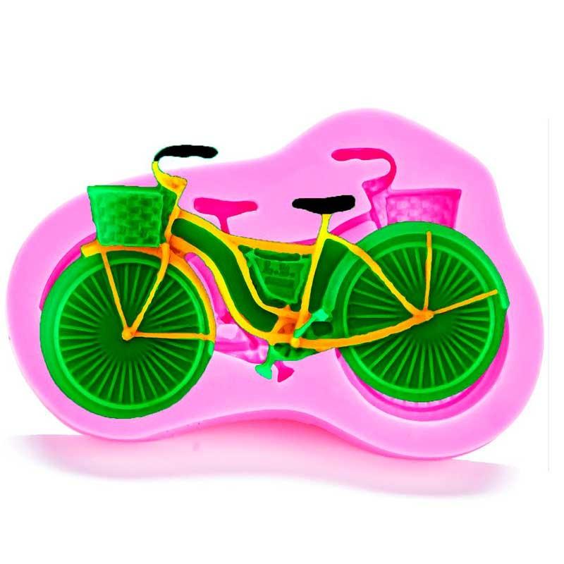 Moule Vélo avec panier pâte à sucre