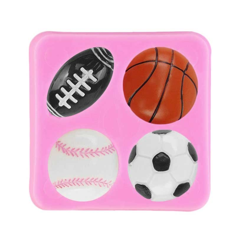 Moule Ballon Foot Basket Rugby pâte à sucre