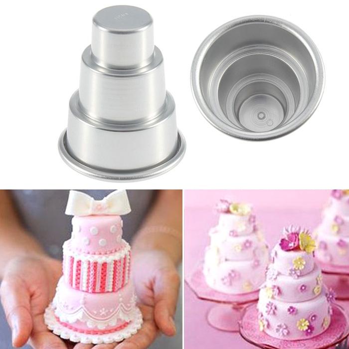 Mini Moules Gâteau à 3 étages