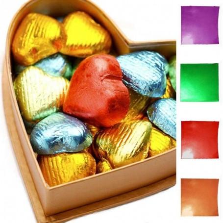 X100 Feuilles aluminium pour emballage chocolat