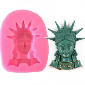 Moule Tête Statue de la Liberté pâte à sucre