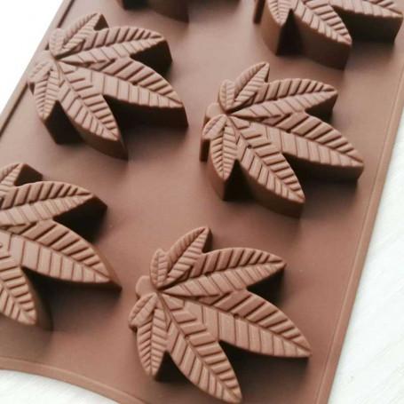 Moule feuilles de CBD Space Cake