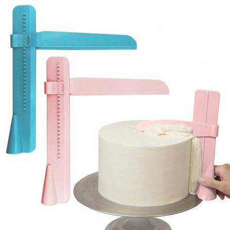 Lisseur à gâteaux réglable angle droit