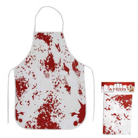 Tablier taché de sang
