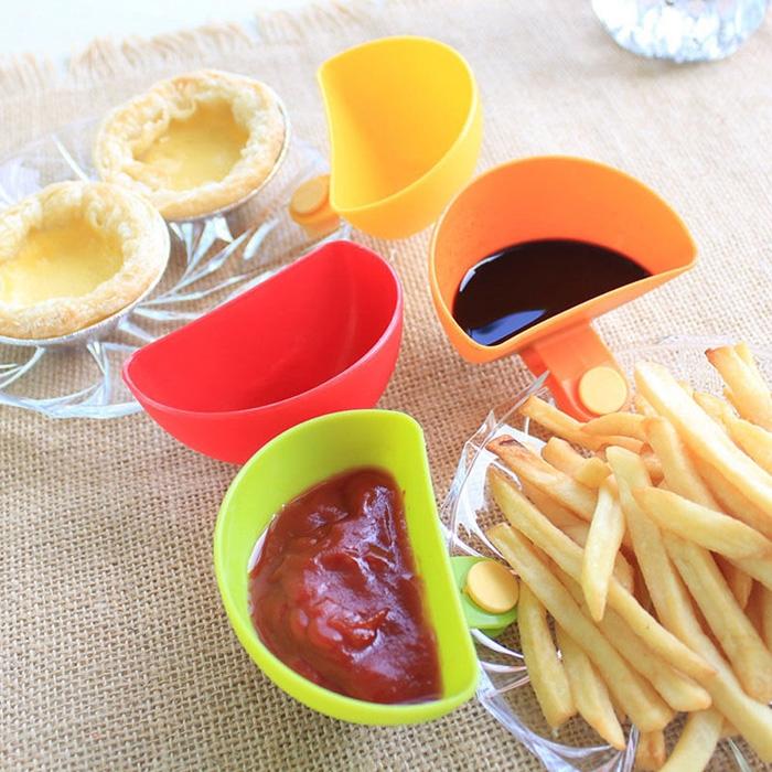 X4 Récipients pour Sauces à Clip